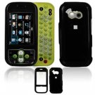 Hard Plastic Smooth Shield Cover Case for LG Neon GT365 (AT&T) - Black