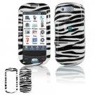 Hard Plastic Design Cover Case for Samsung Highlight T749 - Black / White Zebra