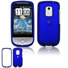 Hard Plastic Rubber Feel Faceplate Case Cover for HTC Hero - Dark Blue