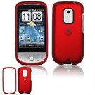 Hard Plastic Rubber Feel Faceplate Case Cover for HTC Hero - Dark Red