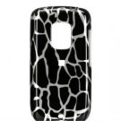 Hard Plastic Design Faceplate Case Cover for HTC Hero - Black Giraffe