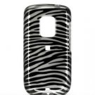 Hard Plastic Design Faceplate Case Cover for HTC Hero - Black/Silver Stripes