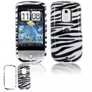 Hard Plastic Design Faceplate Case Cover for HTC Hero - Black/White Stripes