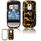 Hard Plastic Design Faceplate Case Cover for HTC Hero - Gold/Black