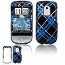 Hard Plastic Design Faceplate Case Cover for HTC Hero - Light Blue/Black