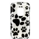 Hard Plastic Design Faceplate Case Cover for HTC Hero - Paw Print