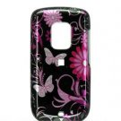 Hard Plastic Design Faceplate Case Cover for HTC Hero - Pink Butterflies