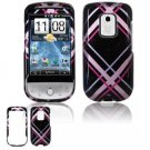 Hard Plastic Design Faceplate Case Cover for HTC Hero - Pink/Black