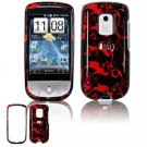 Hard Plastic Design Faceplate Case Cover for HTC Hero - Red/Black