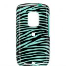 Hard Plastic Design Faceplate Case Cover for HTC Hero - Turquoise/Black