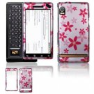Hard Plastic Design Faceplate Case Cover for Motorola Droid - Flowers