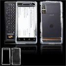 Hard Plastic Glossy Faceplate Case Cover for Motorola Droid (Verizon Wireless) - Clear