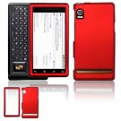 Hard Plastic Rubber Feel Faceplate Case Cover for Motorola Droid - Dark Red