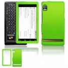 Hard Plastic Rubber Feel Faceplate Case Cover for Motorola Droid - Green