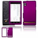 Hard Plastic Rubber Feel Faceplate Case Cover for Motorola Droid - Purple