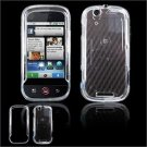 Hard Plastic Glossy Faceplate Case Cover for Motorola Cliq - Clear
