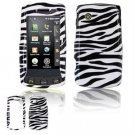 Hard Plastic Design Faceplate Case Cover for LG Bliss UX700 - Black/White Stripes