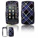 Hard Plastic Design Faceplate Case Cover for LG Bliss UX700 - Dark Blue/Black