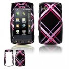 Hard Plastic Design Faceplate Case Cover for LG Bliss UX700 - Hot Pink/Black