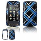 Hard Plastic Design Faceplate Case Cover for LG Bliss UX700 - Light Blue/Black