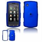 Hard Plastic Rubber Feel Faceplate Case Cover for LG Bliss UX700 - Dark Blue