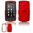 Hard Plastic Rubber Feel Faceplate Case Cover for LG Bliss UX700 - Dark Red