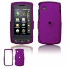 Hard Plastic Rubber Feel Faceplate Case Cover for LG Bliss UX700 - Purple
