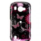 Hard Plastic Design Faceplate Case Cover for Samsung Omnia 2 i920 - Pink Flower & Butterflies