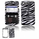 Hard Plastic Design Faceplate Case Cover for Samsung Intrepid i350 - Black/White Stripes