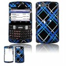 Hard Plastic Design Faceplate Case Cover for Samsung Intrepid i350 - Light Blue/Black