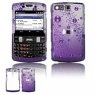 Hard Plastic Design Faceplate Case Cover for Samsung Intrepid i350 - Purple Rain Drops