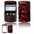 Hard Plastic Design Faceplate Case Cover for Samsung Intrepid i350 -Red/Black