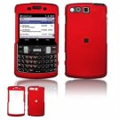 Hard Plastic Rubber Feel Faceplate Case Cover for Samsung Intrepid i350 - Dark Red