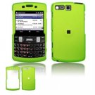 Hard Plastic Rubber Feel Faceplate Case Cover for Samsung Intrepid i350 - Green