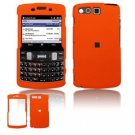 Hard Plastic Rubber Feel Faceplate Case Cover for Samsung Intrepid i350 - Orange