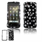 Hard Plastic Design Faceplate Case Cover for LG Chocolate Touch - Black/Silver Stars