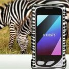 Hard Plastic Design Faceplate Case Cover for LG Chocolate Touch - Silver/Black Stripes