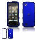 Hard Plastic Rubber Feel Faceplate Case Cover for LG Chocolate Touch - Dark blue