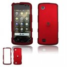 Hard Plastic Rubber Feel Faceplate Case Cover for LG Chocolate Touch - Dark Red