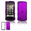 Hard Plastic Rubber Feel Faceplate Case Cover for LG Chocolate Touch - Purple