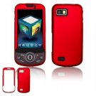 Hard Plastic Rubber Feel Faceplate Case Cover for Samsung Behold 2 T939 - Dark Red