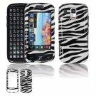 Hard Plastic Design Faceplate Case Cover for Samsung Rogue U960 - Black/White Stripes