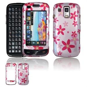 Hard Plastic Design Faceplate Case Cover for Samsung Rogue U960 - Flowers