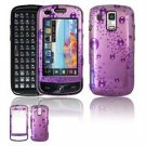 Hard Plastic Design Faceplate Case Cover for Samsung Rogue U960 - Purple Rain Drops