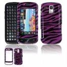 Hard Plastic Design Faceplate Case Cover for Samsung Rogue U960 - Purple/Black Stripes