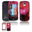 Hard Plastic Design Faceplate Case Cover for Samsung Rogue U960 - Red Hearts