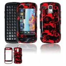 Hard Plastic Design Faceplate Case Cover for Samsung Rogue U960 - Red/Black