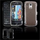 Hard Plastic Glossy Faceplate Case Cover for Samsung Rogue U960 - Clear