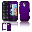 Hard Plastic Rubber Feel Faceplate Case Cover for Samsung Rogue U960 - Dark Purple