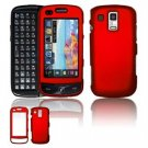 Hard Plastic Rubber Feel Faceplate Case Cover for Samsung Rogue U960 - Dark Red